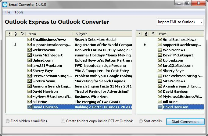 Windows 7 Outlook Express to Outlook Converter Tool 1.0.0.0 full
